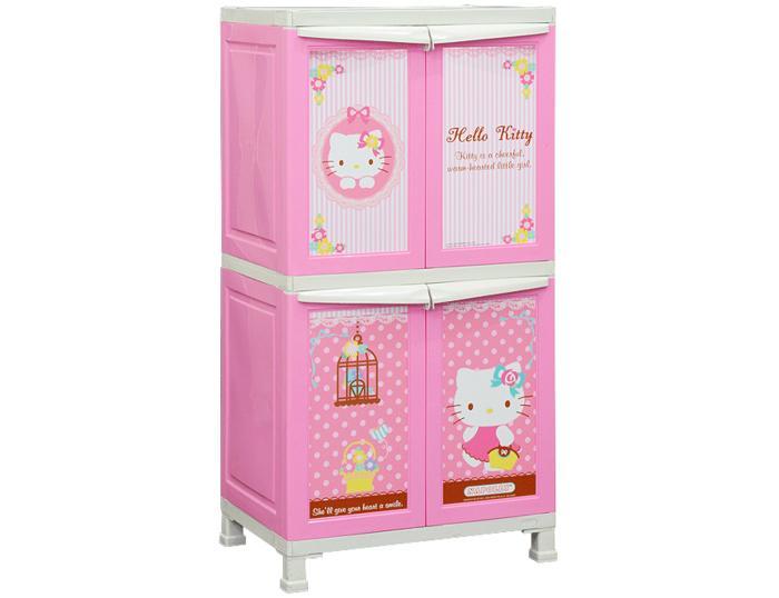 Napolly Lemari Plastik 4 Pintu Karakter Hello Kitty BCBC 242 KTSH