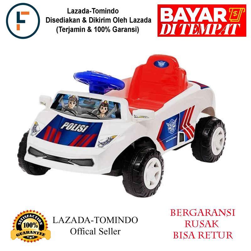 Tomindo Toys Ride On Mobil Sedan Polisi GGC629 / mainan anak / mobil polisi