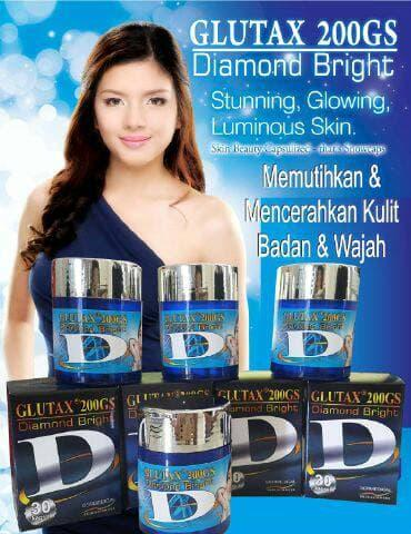 Promo Glutax 200GS Diamond Bright Capsule / Kapsul Pemutih Glutax 200GS