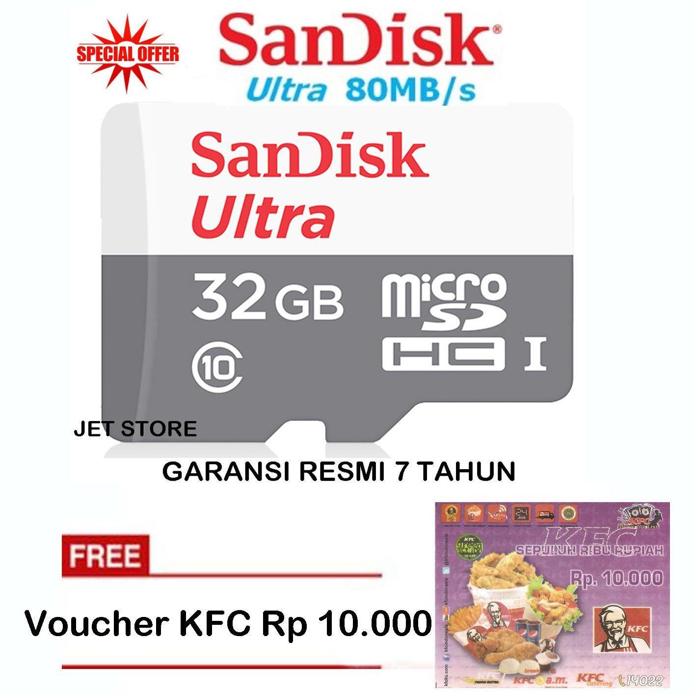 Kartu Memori Sandisk Terbaru Micro Sd Class 4 32gb Garansi Resmi Ultra Microsdhc 32 Gb 80mb S Putih Voucher Kfc