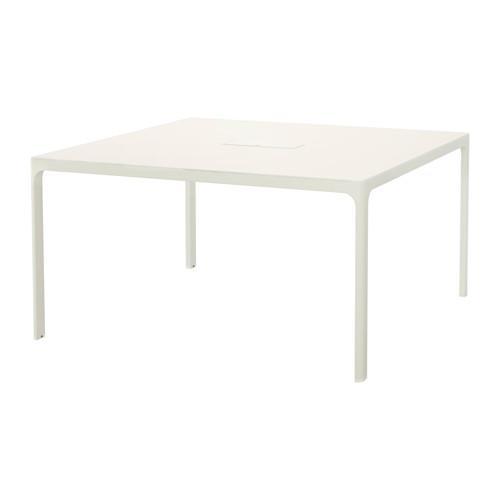 PROMO!! IKEA BEKANT Meja rapat 140x140 cm, Putih MURAH /  BUBBLE 3 LAPIS / ORIGINAL / IKEA ORIGINAL