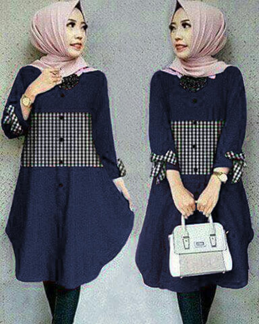 Ayako Fashion Tunik Zoya - (Black)