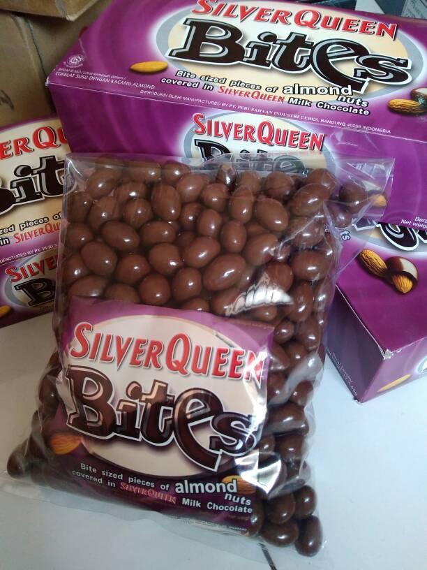 Coklat Silverqueen Bites Almond 1kg