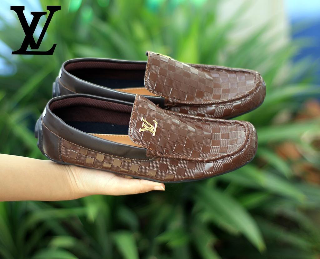 Sepatu Lv Pria Louis Vuitton Slip on Casual Loafer Kantor Kerja (LOKAL) ea6446edcb
