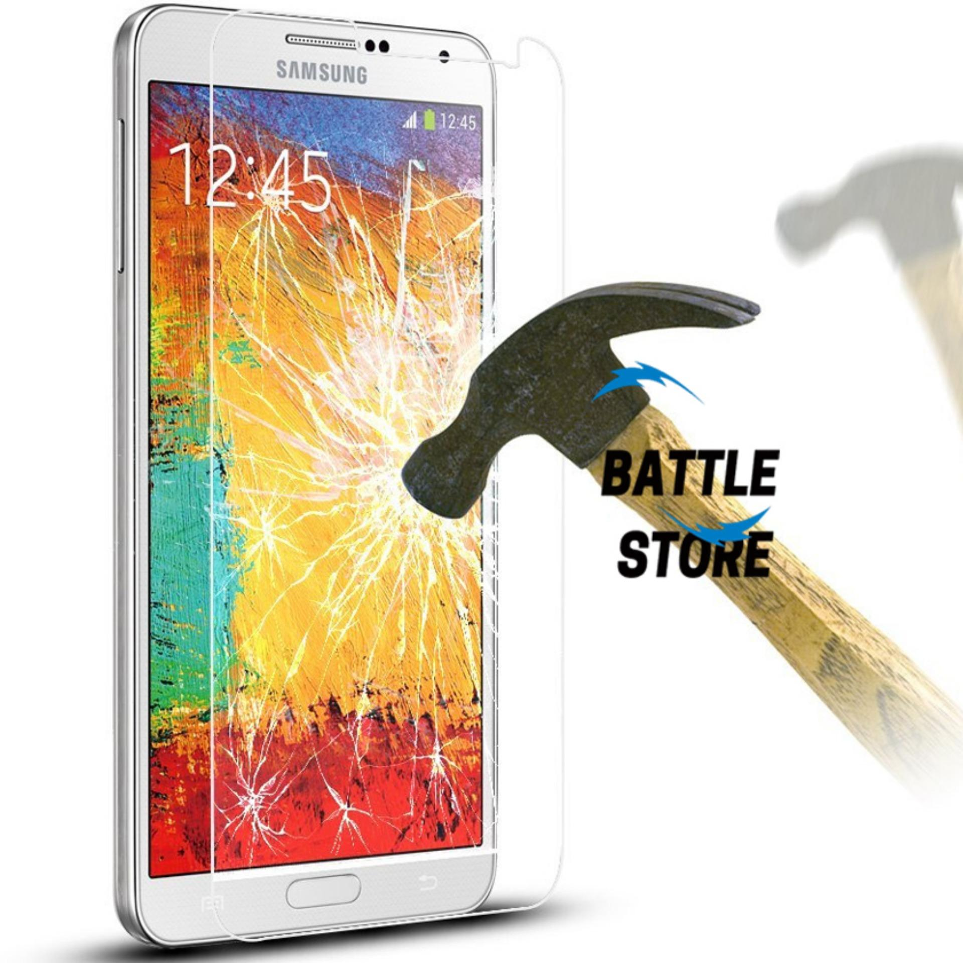 Samsung Galaxy Note 3 ( N9000 ) Screen Protector Tempered Glass / Anti Gores Kaca - White Clear