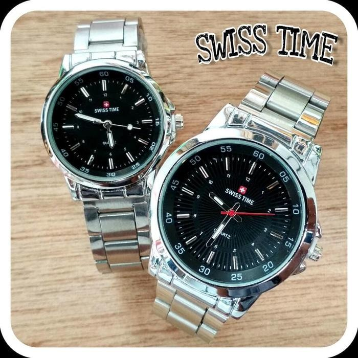 Swiss Time Army - SA6557D Jam Tangan Couple Stainless Steel Silver 36c48022f4