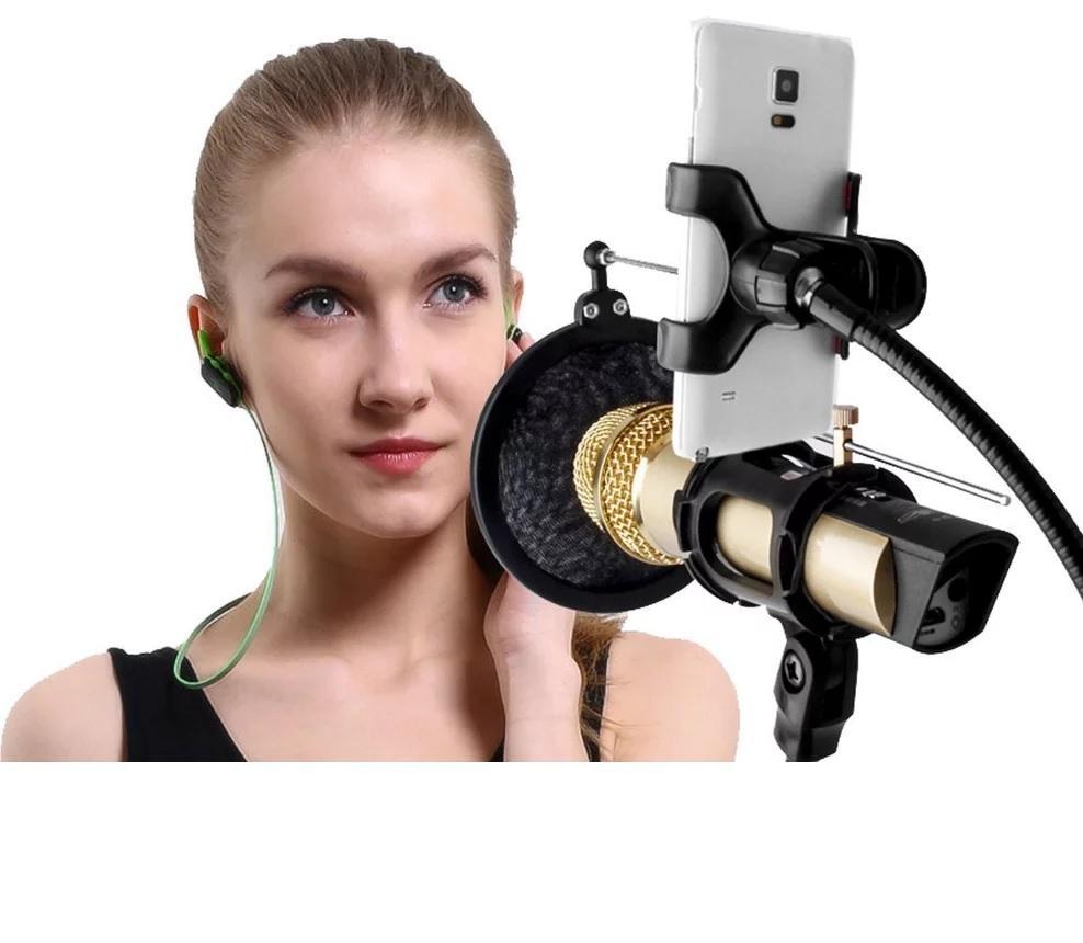 Beli Filter Mic Store Marwanto606 Pop Layer Ganda Mikrofon Bop Complete Set Hp Smartphone Stand Holder 360 Microphone For Recording Karaoke Smule