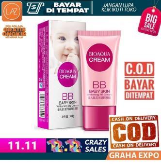 ... Harga preferensial Bioaqua BB Baby Skin Whitening BB Cream Krim Bedak Model Tube Pemutih Kulit Wajah