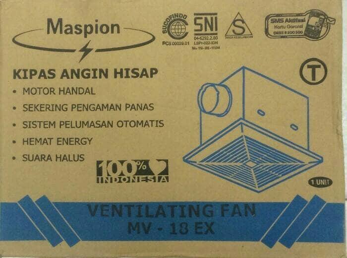 Hot Item!! Hexos Plafon 8 Inci \U002F Hexos Cerobong Maspion Mv18Ex - ready stock