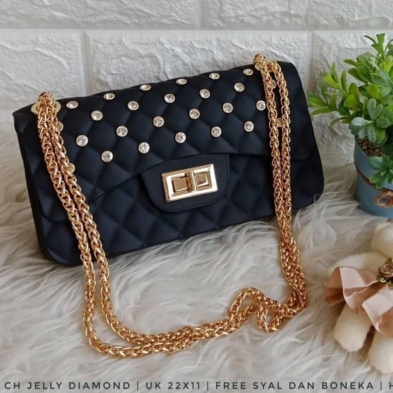 tas selempang fashion wanita sling bag cewek studs gagang bulat bta349. Source · Tas Jelly