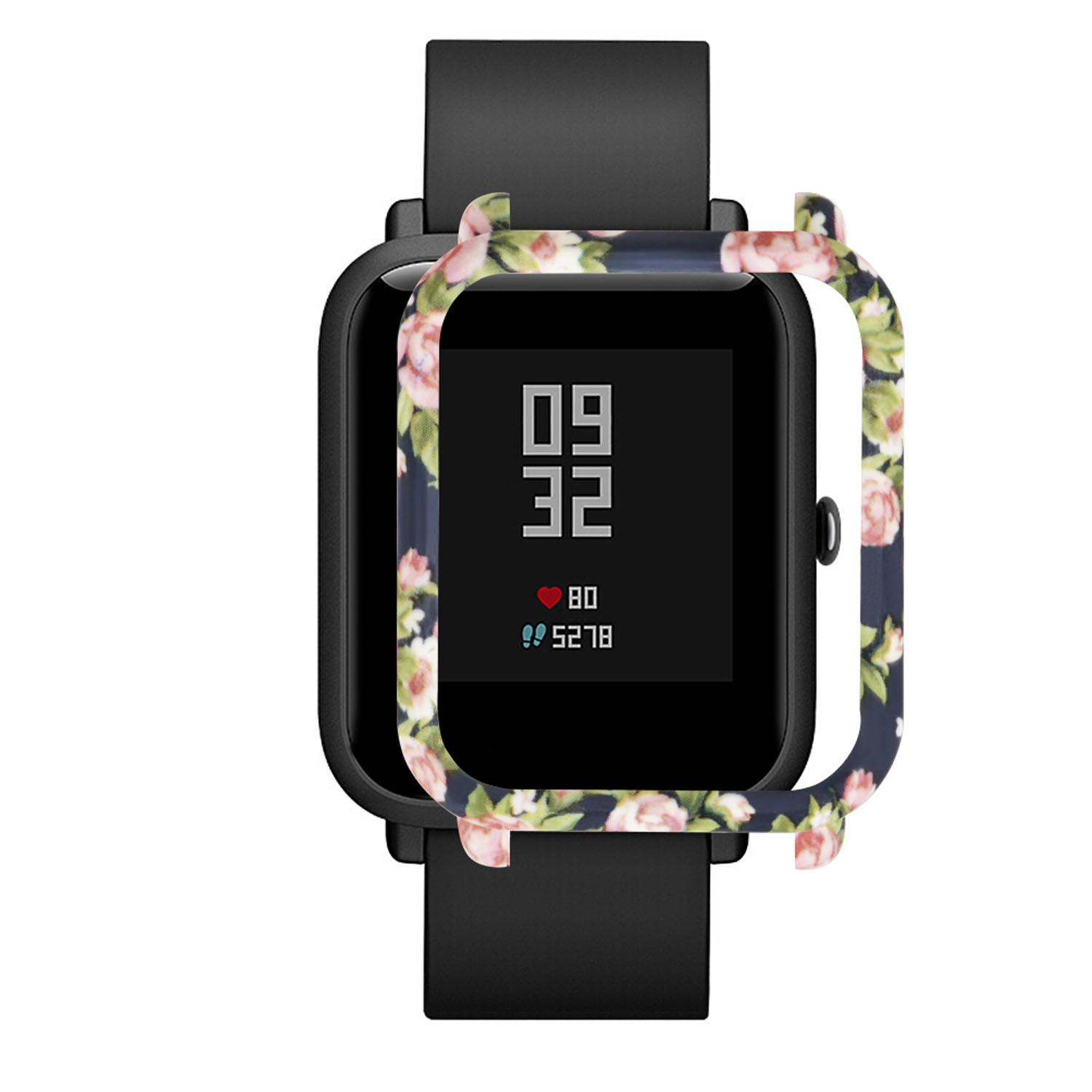 Lightweight Cool Patterned Protector Protective Frame Case Cover Shell Dust-proof Anti-scratch Accessories for Xiaomi Huami Amazfit Bip Youth Watch - intl