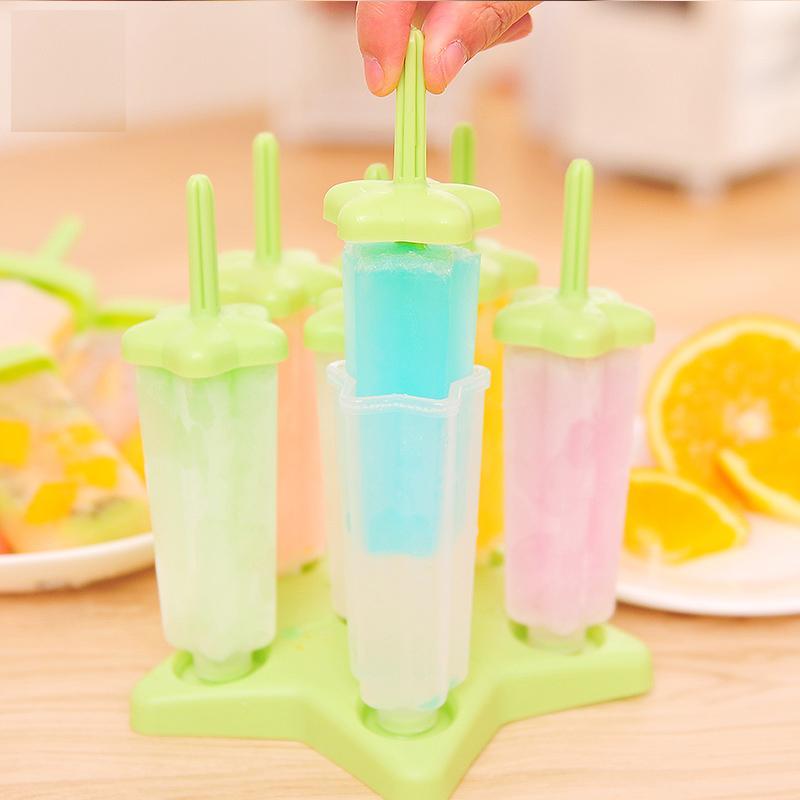 DIY Es Krim Bertongkat Cetakan Plastik Kotak Es Krim Pembuatan Es Loli Mesin