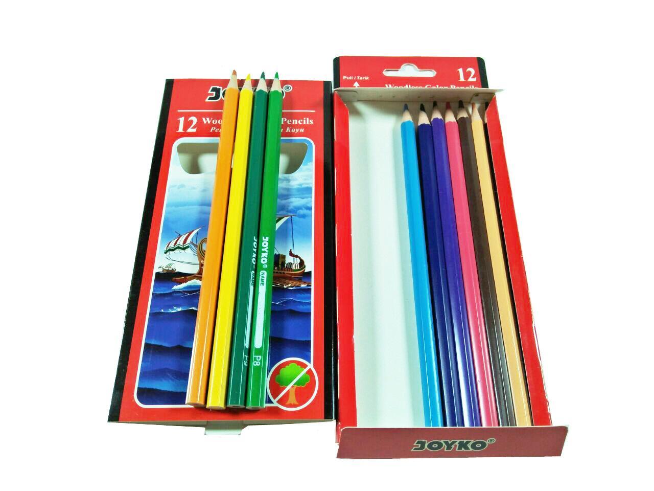 Alat gambar pensil pinsil warna Joyko atau Kenko isi 12 pcs