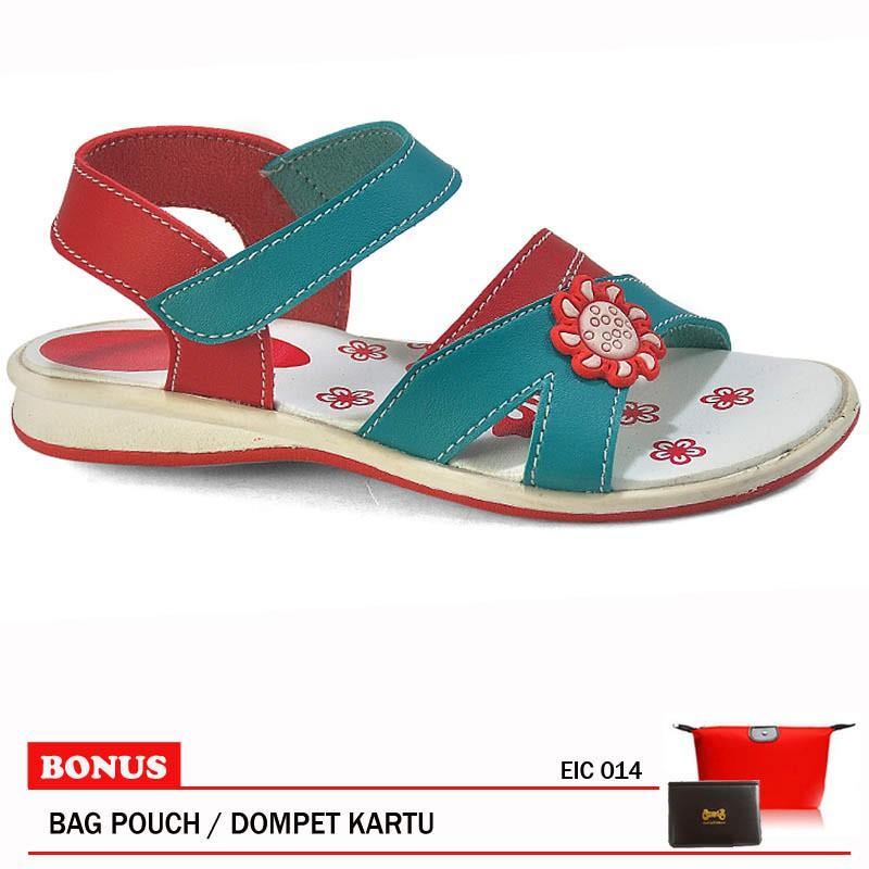 Cbrsix Sandal Anak Perempuan EIC 014 Merah Comb