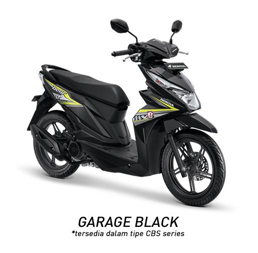 MOTOR HONDA ALL NEW BEAT SPORTY ESP CBS GARAGE BLACK JAKARTA