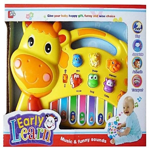 Mainan Bayi Early Learn Musik Piano Sapi