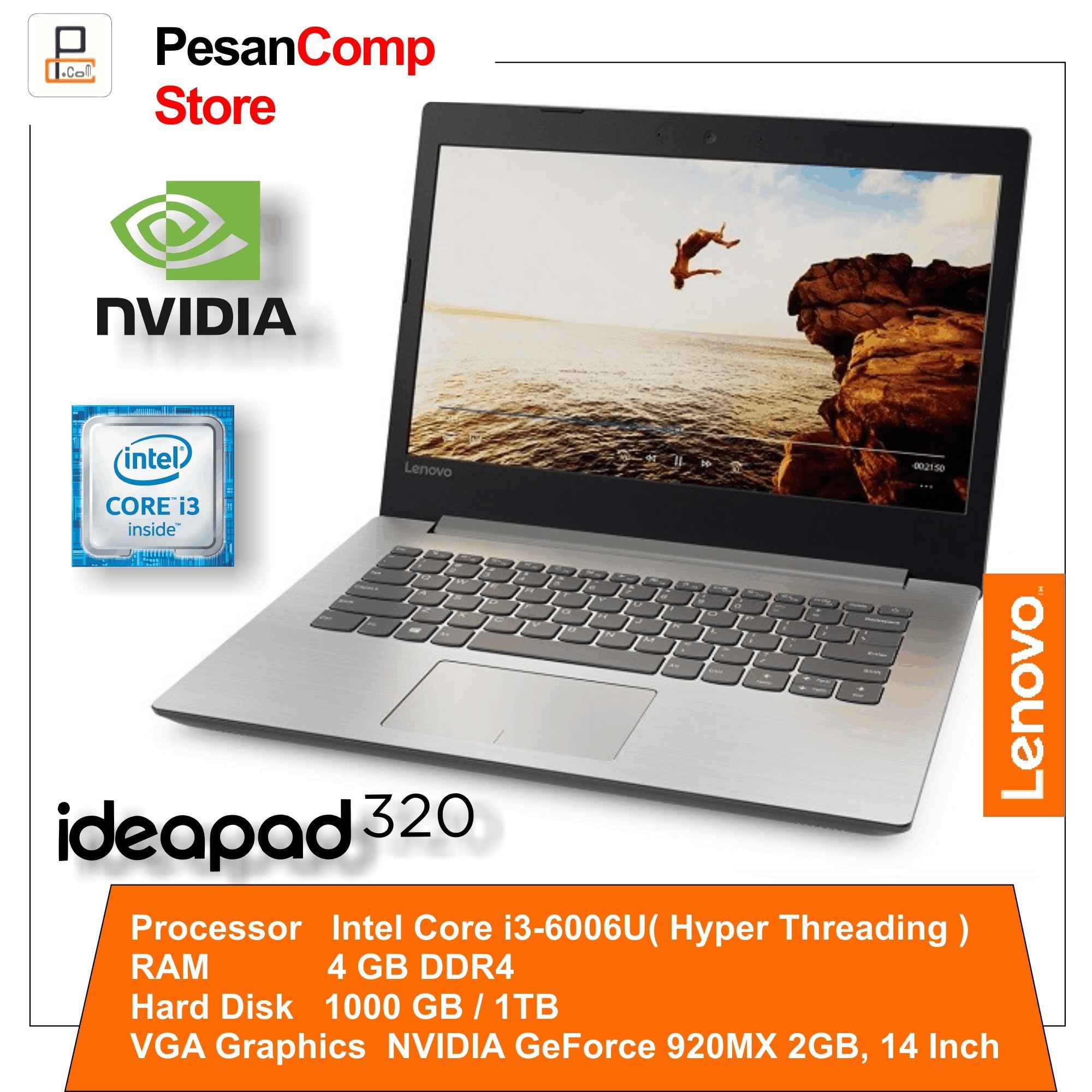 Lenovo IdeaPad 320-14ISK Intel i3-6006U / NVidia GeForce 920MX 2GB / 4GB DDR4 / 1 TB / DOS / 14 Inch / Slim Desain / Garansi Resmi Lenovo Indonesia