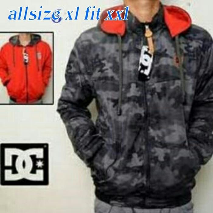 Hot Item!! Jaket Bolak Balik Loreng Abu Jumbo - ready stock