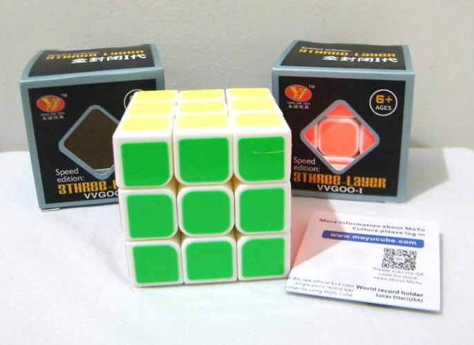 Rubik 3X3 Yongjun Base Putih - Speed Edition / Rubik Speed