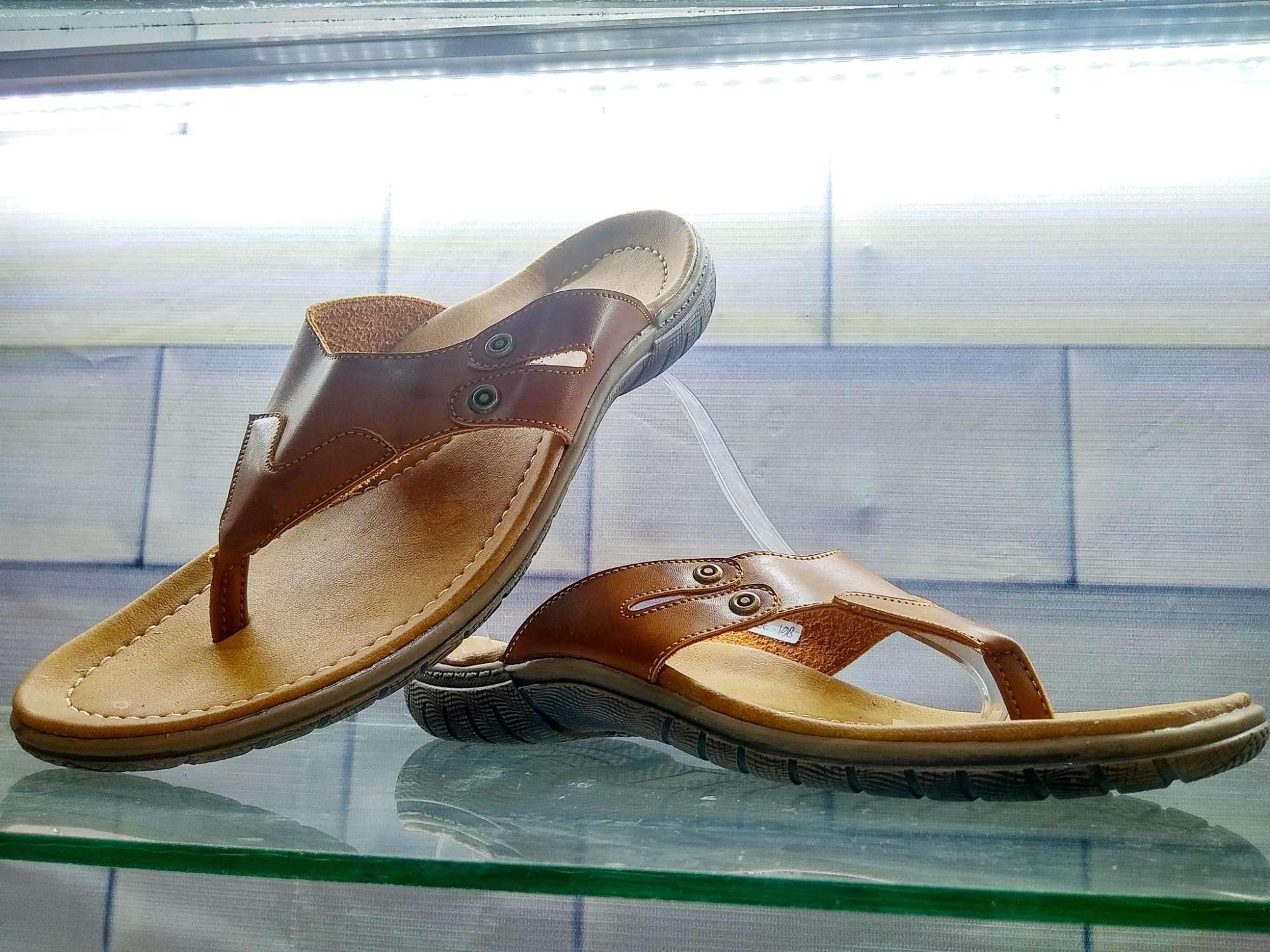 Ti Boerit Sandal Pria Jepit Flat Anti Slip Kulit Import Asli Tasikmalaya