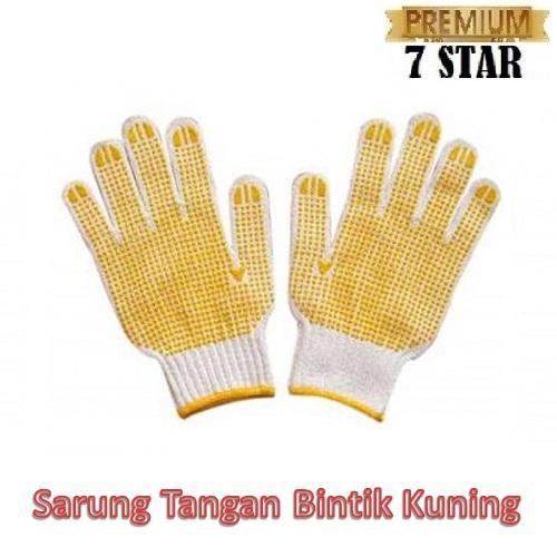 Sarung Tangan Kerja Industri 7star - Sarung Tangan Kerja Motif Bintik Kuning - 1 Set Isi 2 Pcs By 7star Id.