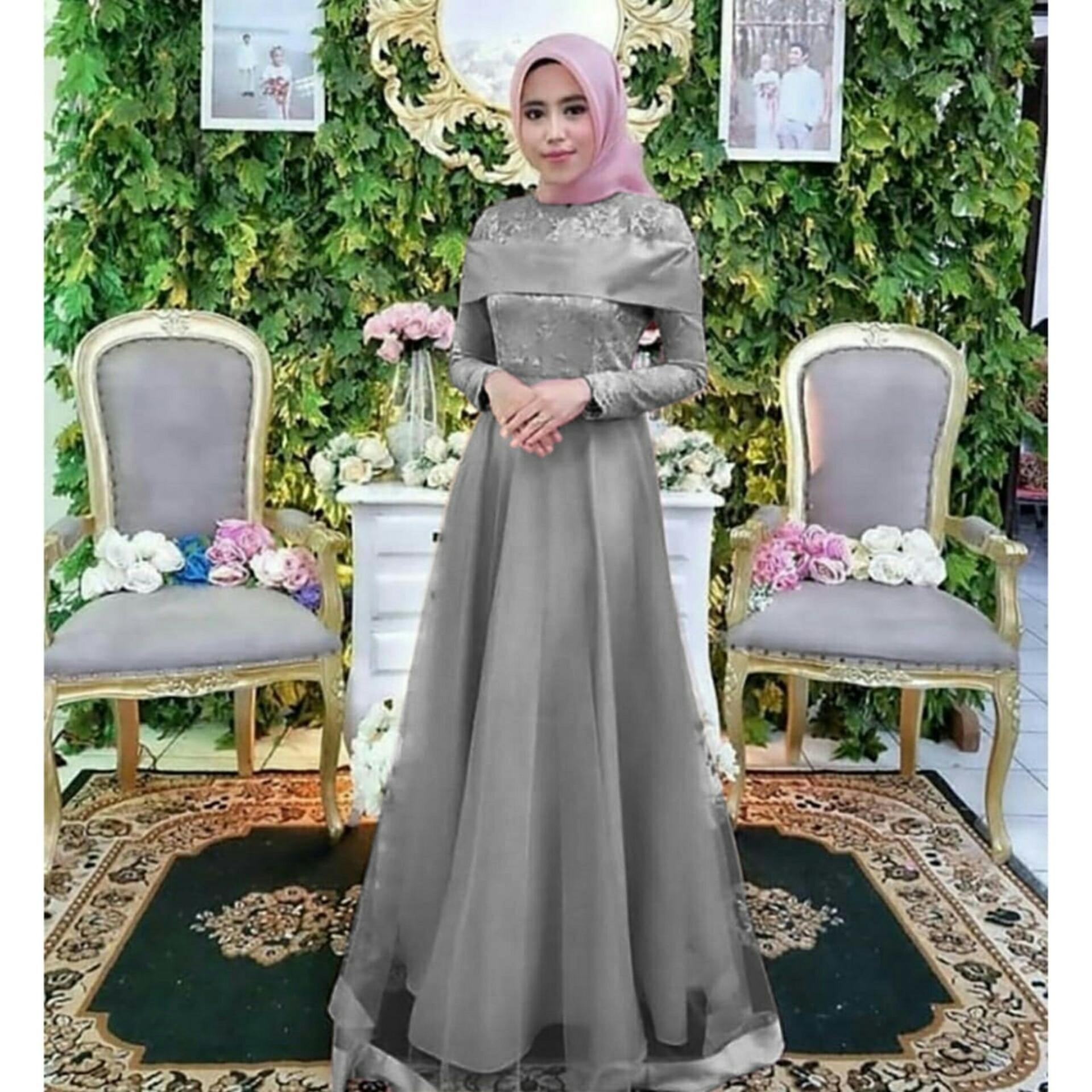 trendshopee Pakaian Muslim Wanita Gamis Maxi Syantik