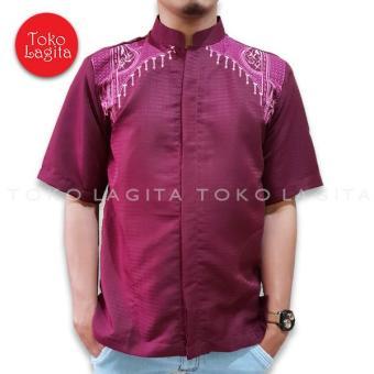 Beli sekarang TL Baju Koko Muslim Pria - Maroon terbaik murah - Hanya  Rp50.105 6d9e7fd483