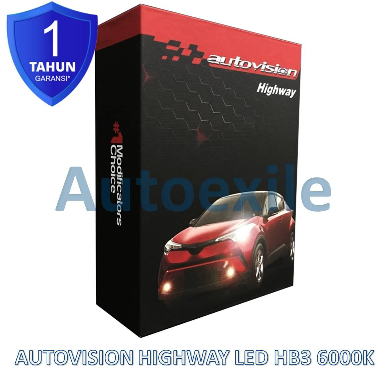 Autovision Highway LED HB3 9005 12V 24V 6000K Putih Advance CSP Lampu Mobil BRV Innova Reborn Fortuner Rush New Pajero Terios XI New Civic Celica