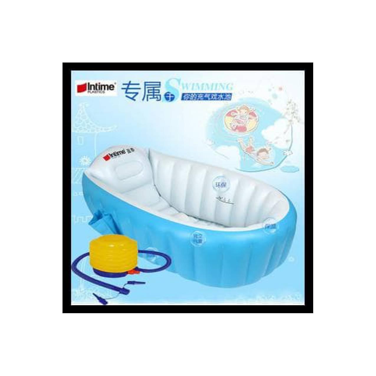 Paket Intime Baby Bath Tub Blue Pompa Bestway 5 Inch Bak Mandibayi Tempat Mandi Bayi Shinpo Paradise 601 51125 Source Biru