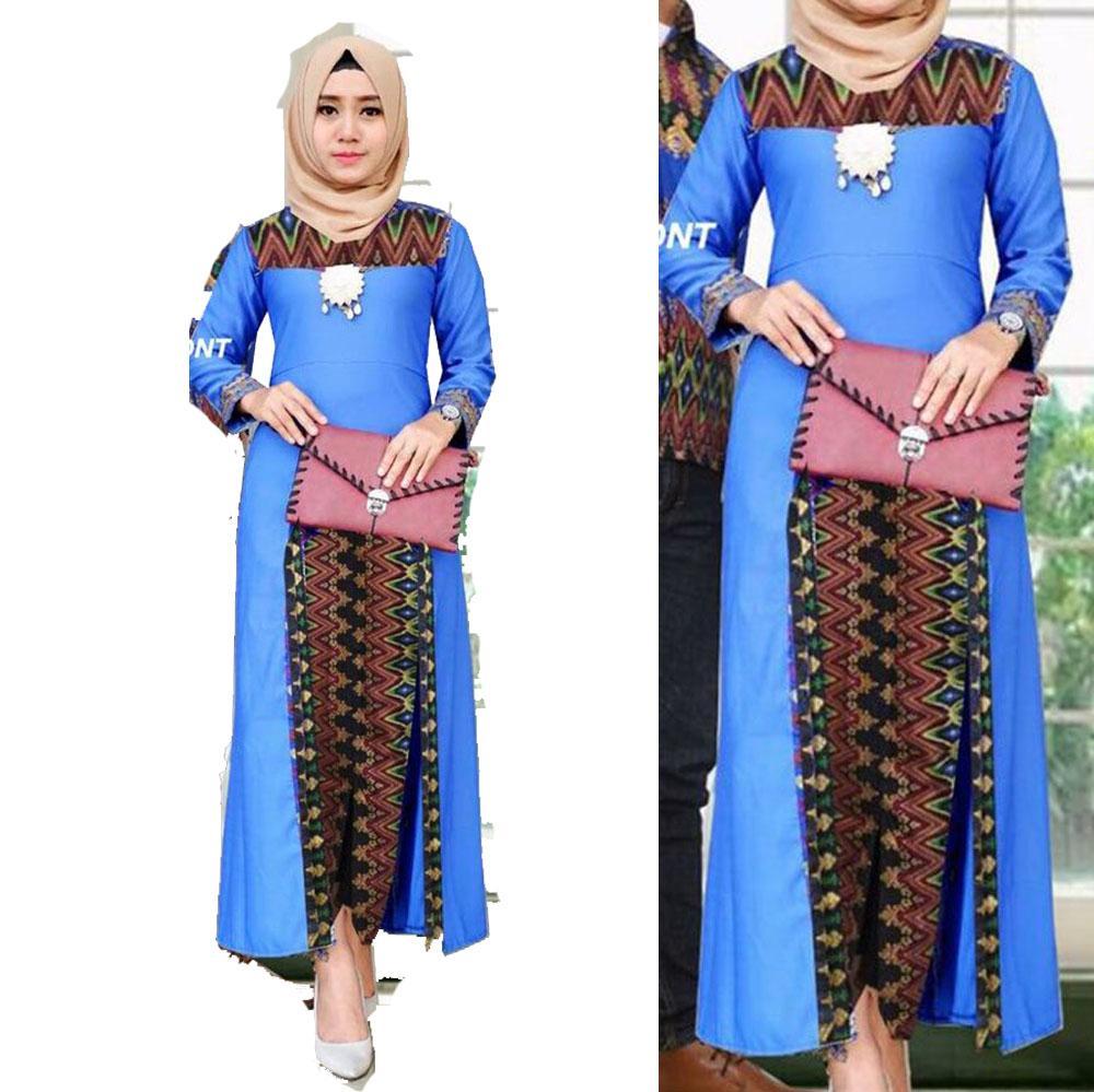 Fufuclothes Gamis Batik Putri Sharla - LATTE
