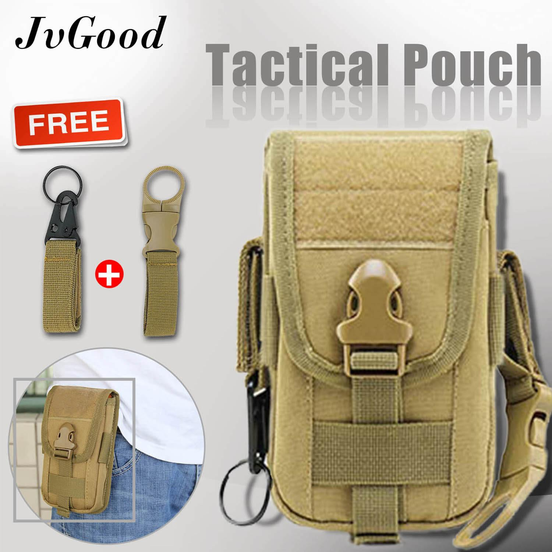 JvGood Tas Pinggang Tempur Multipurpose Tactical Molle Pouch EDC Pouch Bag  Military Belt Bag Gadget Phone 5ecba2320f