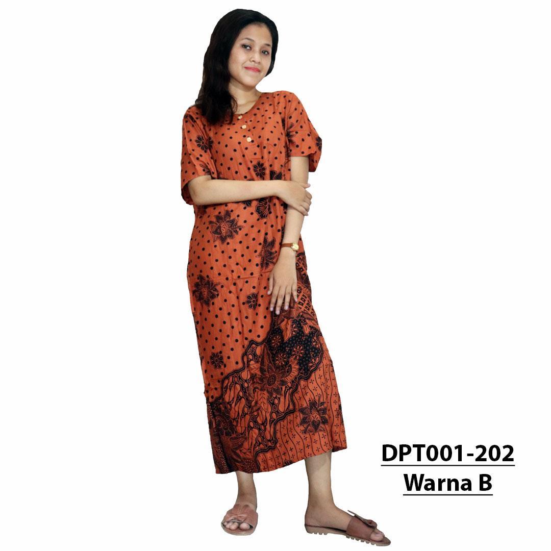 Daster Batik Lengan 3 4 Daster Busui Kancing Depan Grosir Daster ... f192c154d5