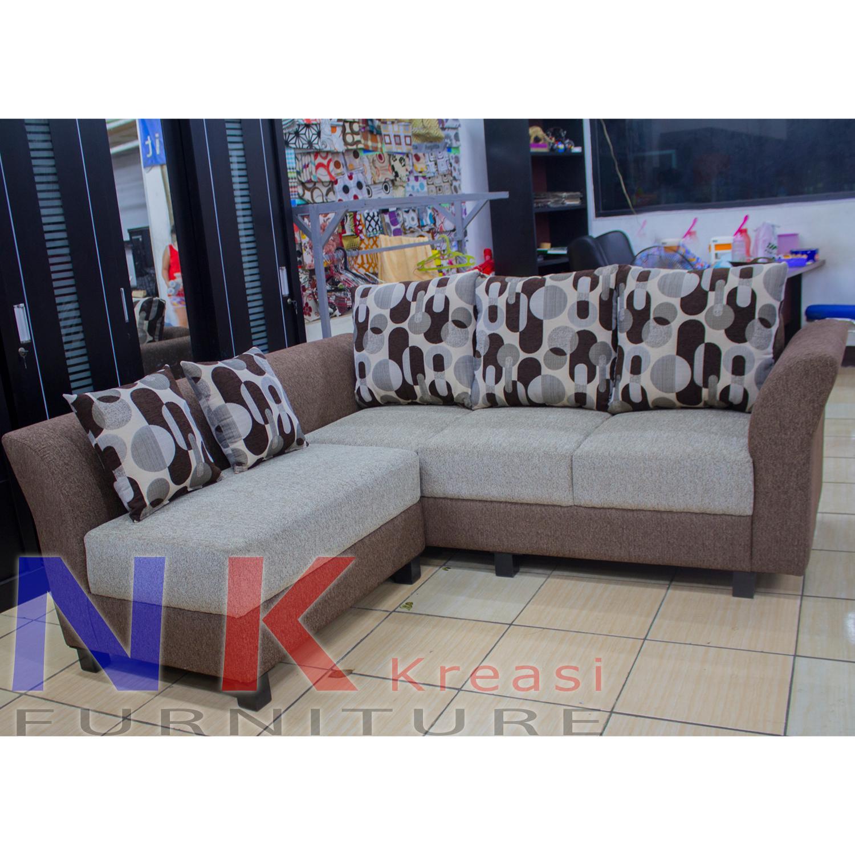 Sofa Tamu L minimalis murah, desain mewah ( kursi L Tangan Minang ) - JABODETABEK ONLY