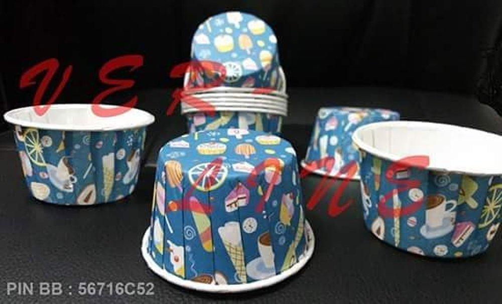 PAPPER CUP WADAH KUE CUP MOMMA ICE CREAM BIRU CMD ESKRIM BIRU 50 pcs