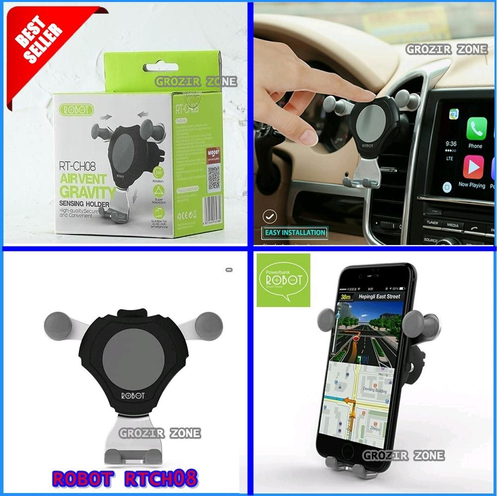 ROBOT RTCH08 / RT-CH08 Car Holder Stent Ac Mobil / Dudukan Di Ac Mobil