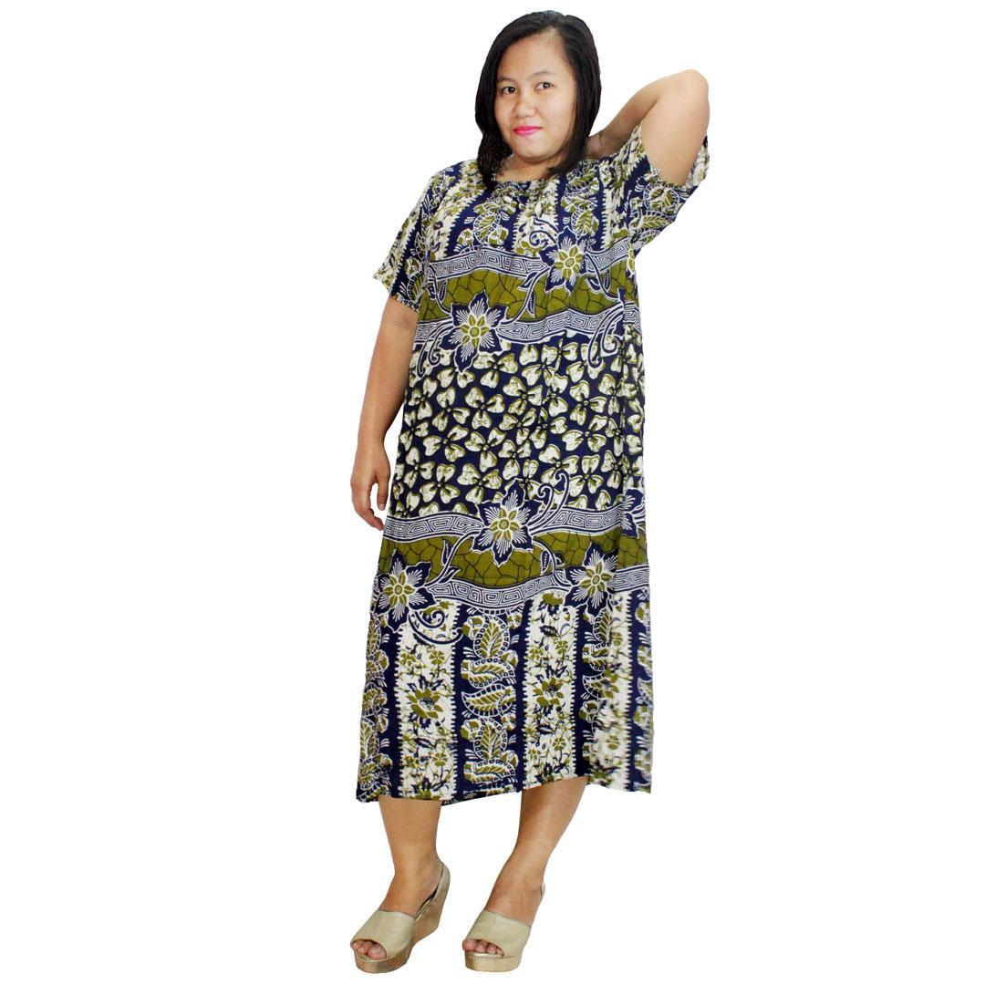 Daster Jumbo Lengan Pendek Batik, Baju Tidur Jumbo, Piyama Jumbo (DPT003-27) Batikalhadi Online