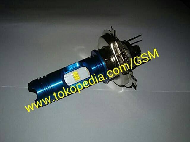 Lampu utama LED H4 RTD BLUES Eyes headlamp VIXON MOTOR MOBIL H/L