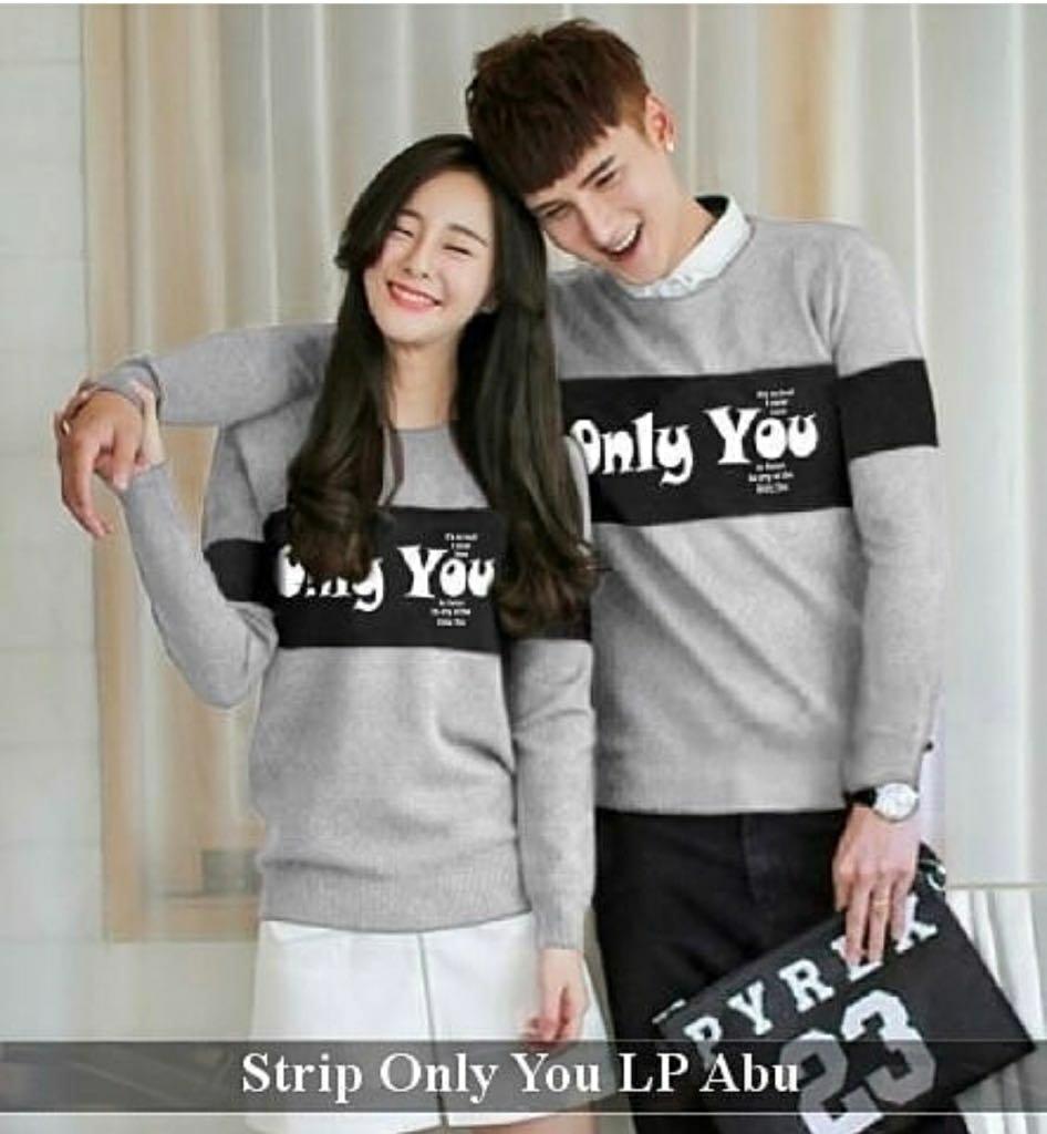 Grosir Hasanah Couple Kaos Panjang YM - Cp Kaos Panjang - Kaos Kembar Pasangan - Kaos Kembaran