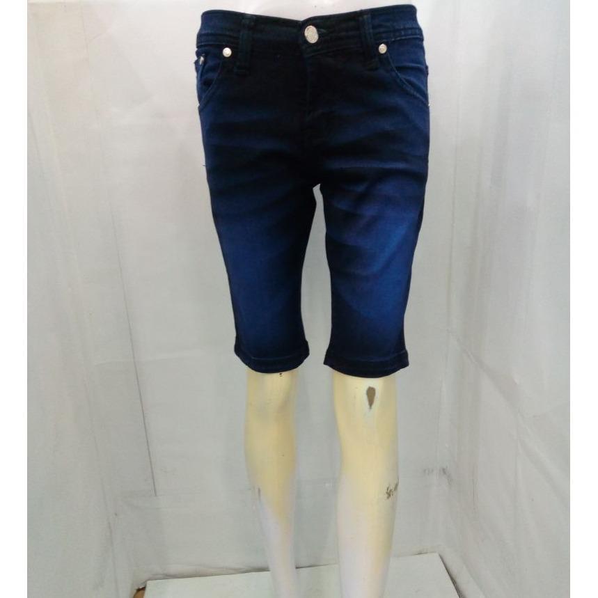 Celana Pendek Jeans 3/4 Wanita - Merk DE Jeans - Bahan Soft Stretch Melar Tebal Bagus - Toko Sumber Rejeki Jeans