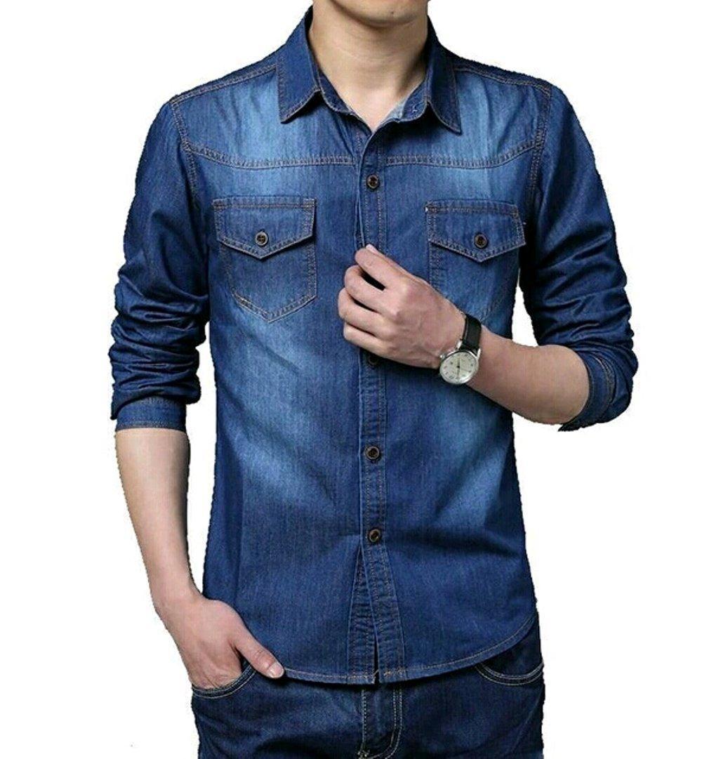 Kemeja Jeans Pria Tomiko 2W di lapak Toko Kembar Tanah Abang rinymangiwa