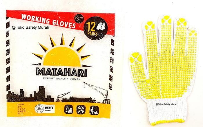 TERLARIS !! Sarung Tangan Benang Bintik Kuning Dotting Murah Matahari Grosir