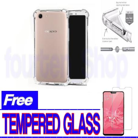 Anticrack Case for Oppo A3S + Free Tempered Glass Protecktor Fo Oppo A3S_BENING_FT