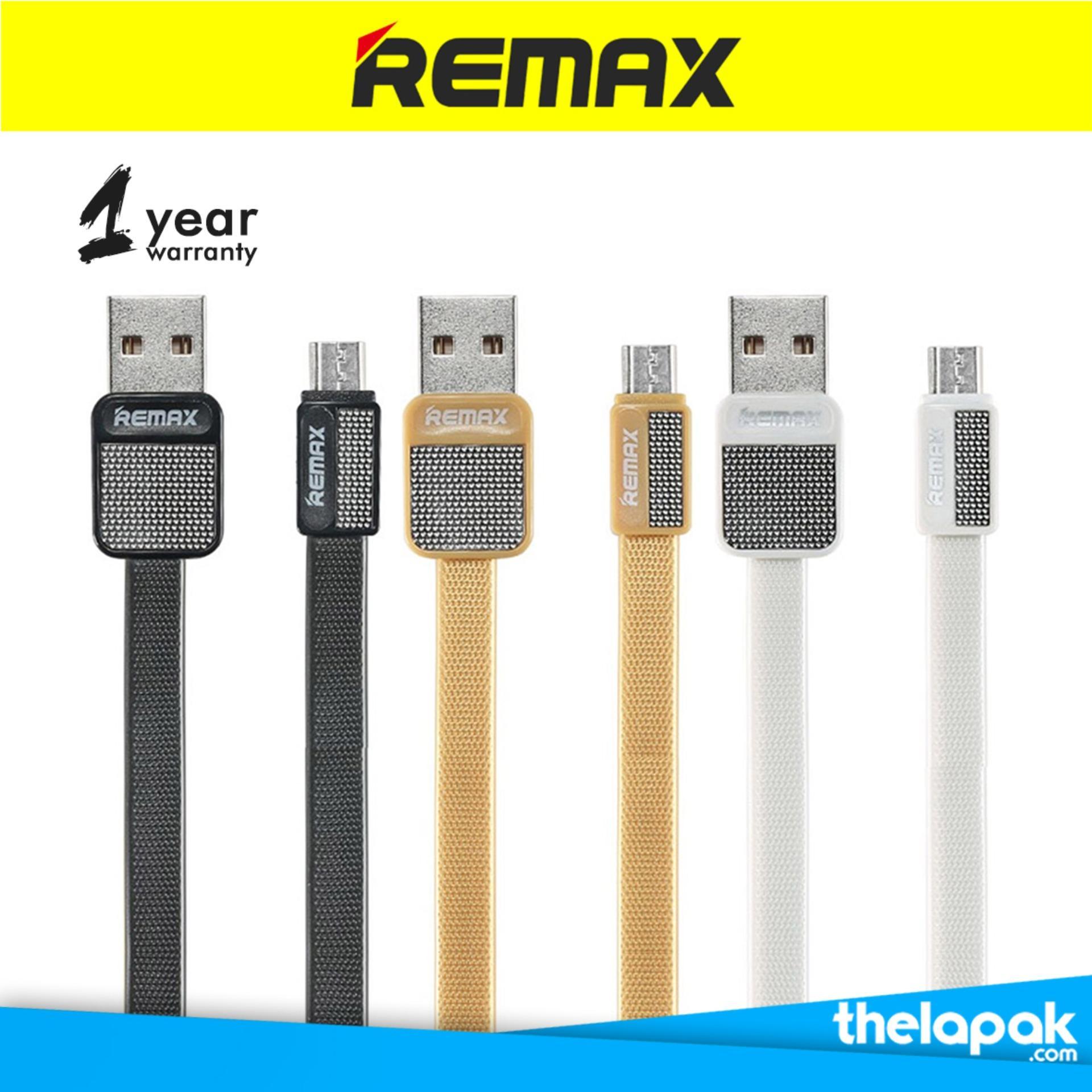 Remax Kabel Data Metal Platinum Cable Micro USB - 1m (RC-044m) - Emas