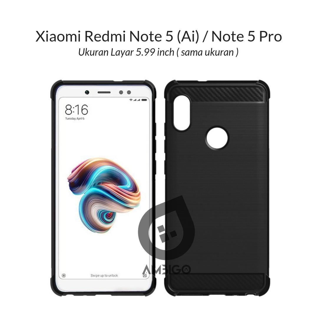 Ambigo Case Xiaomi Redmi Note 5 , Redmi Note 5 Pro AI Dual Camera Layar 5.99
