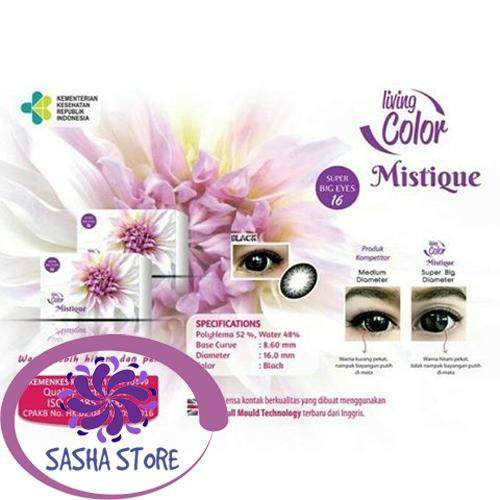 SS Mistique Softlens Living Color + FREE Lenscase - Warna Black