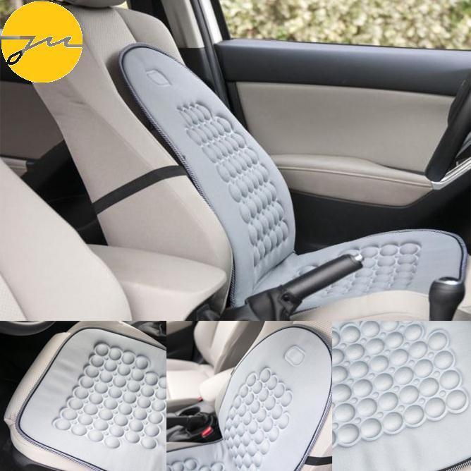 Mobil Magnetis Kendaraan Manik-manik Gelembung Kursi Sarung Bantal Terapi Pijat Rumah Abu-abu
