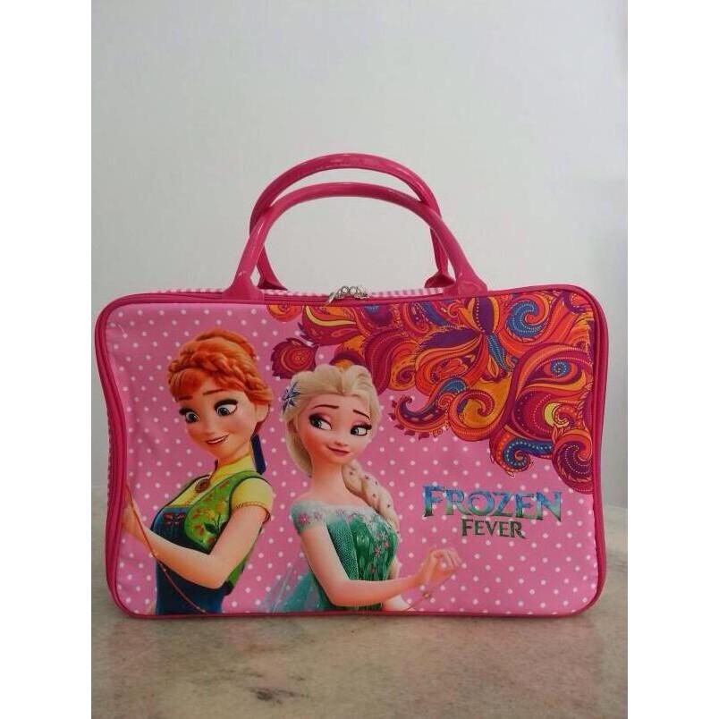 Tas Travel Bag Koper Kanvas Renang Kotak Frozen Fever - R7mqqj