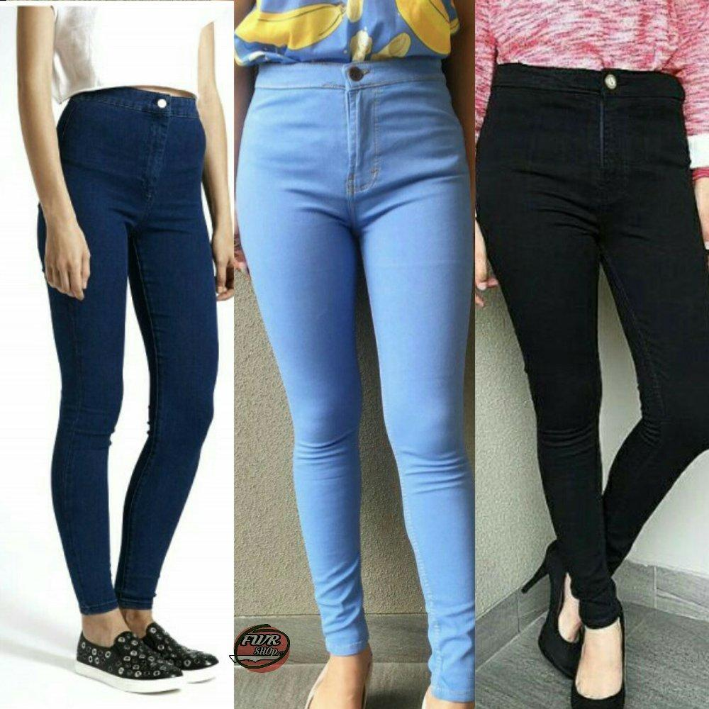Labelledesign Nuriel Jeans Celana Jeans wanita Terbaru Good Quality High  Waist skinny Hitam PUTIH LIGHTBLUE NAVY 000b38d5e3