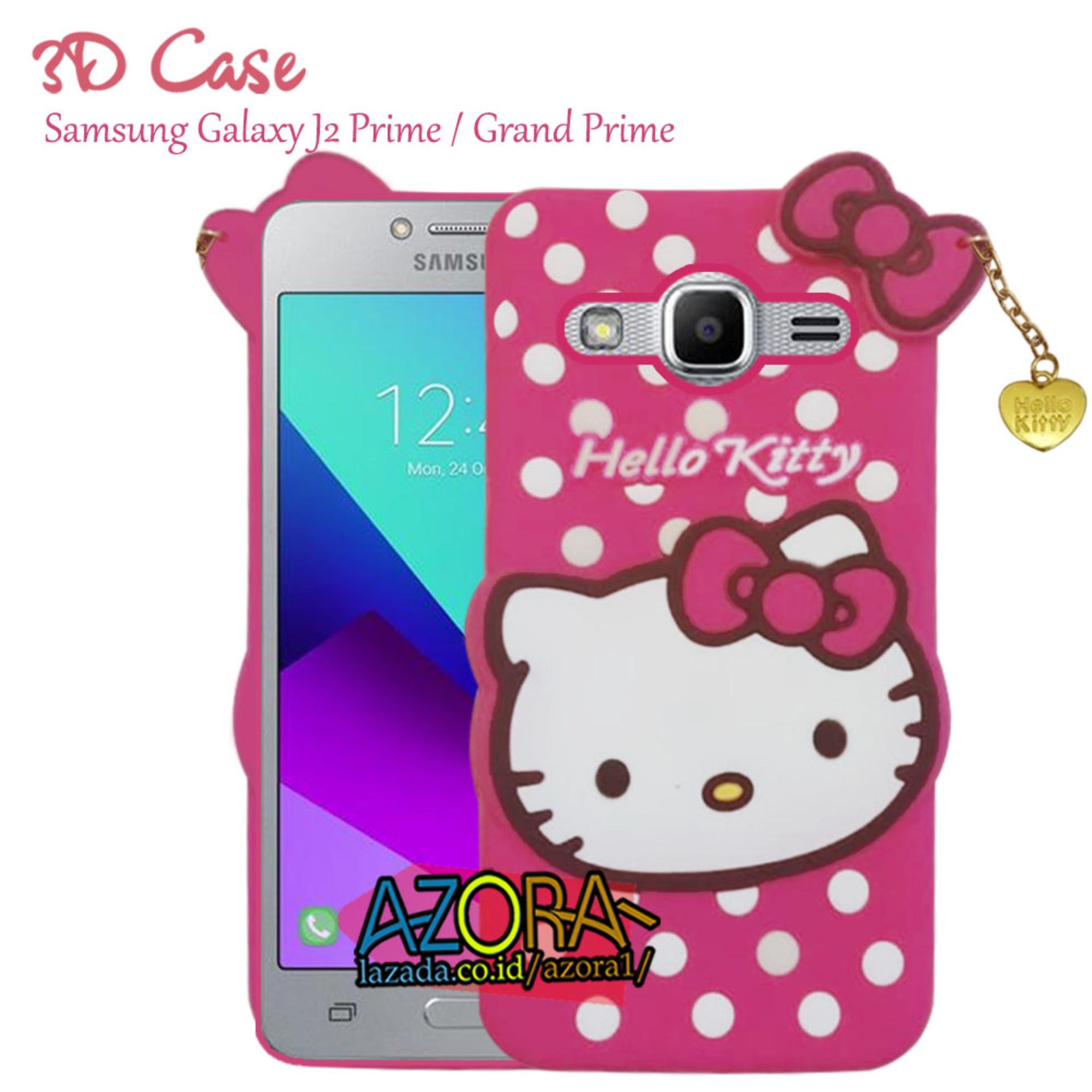 3D Case Samsung Galaxy J2 Prime / Grand Prime Softcase 4D Karakter Boneka Hello Kitty Doraemon Lucu Character Cartoon