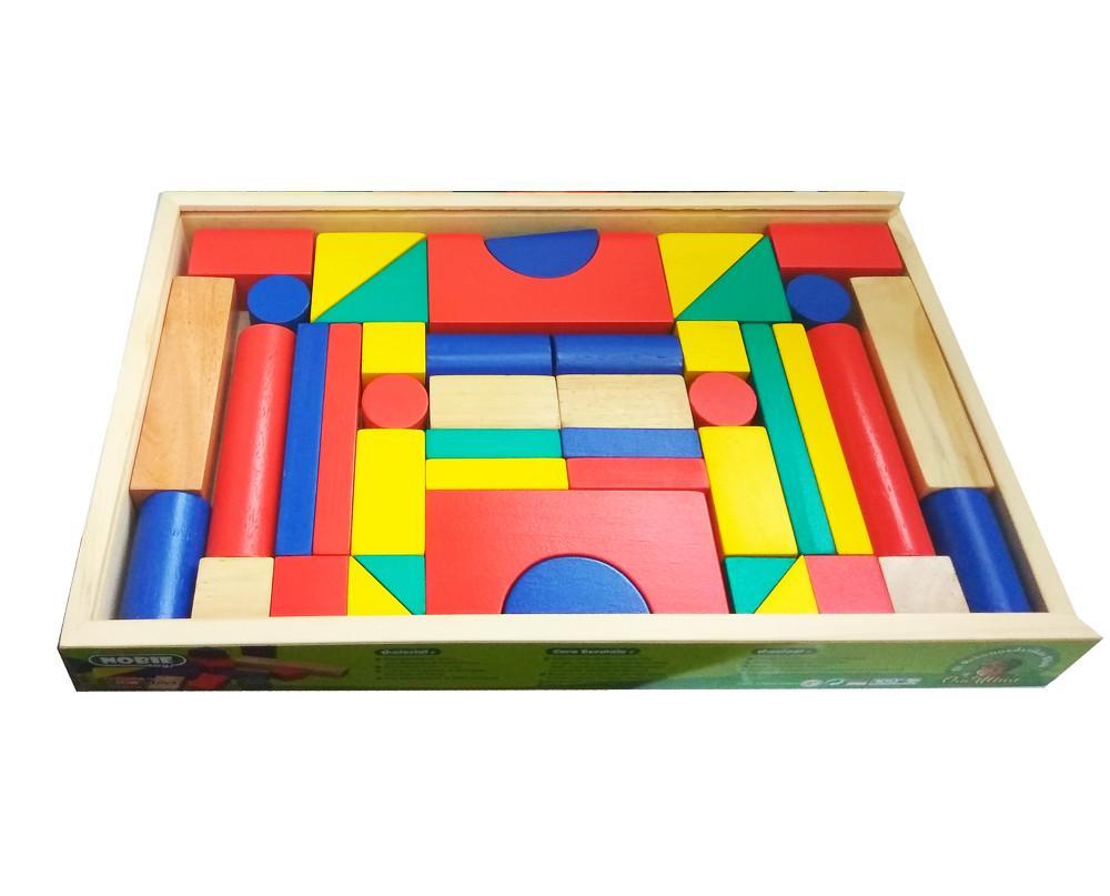 Indonesia Wooden Toys - Mainan Kayu Edukatif Balok Bangun Kayu 42S